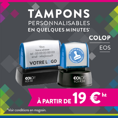Tampons personnalisables - Cartridge World Nîmes